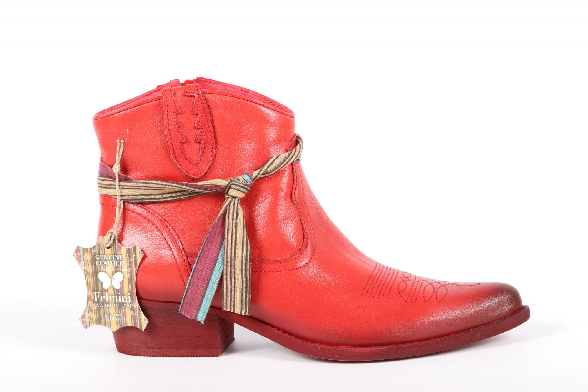 Bottines femme Felmini B504 Lavado Fire (Rouge)