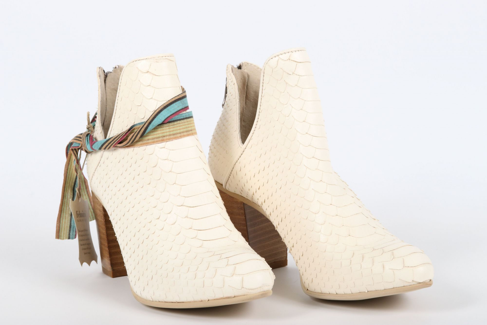 Bottines femme Felmini C224 Wet & Anaconda White (Blanc)