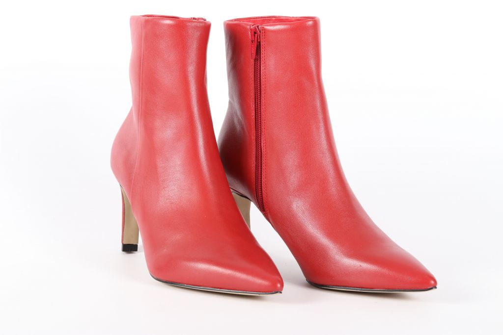 Bottines femme talon haut Fugitive Olivo Rouge