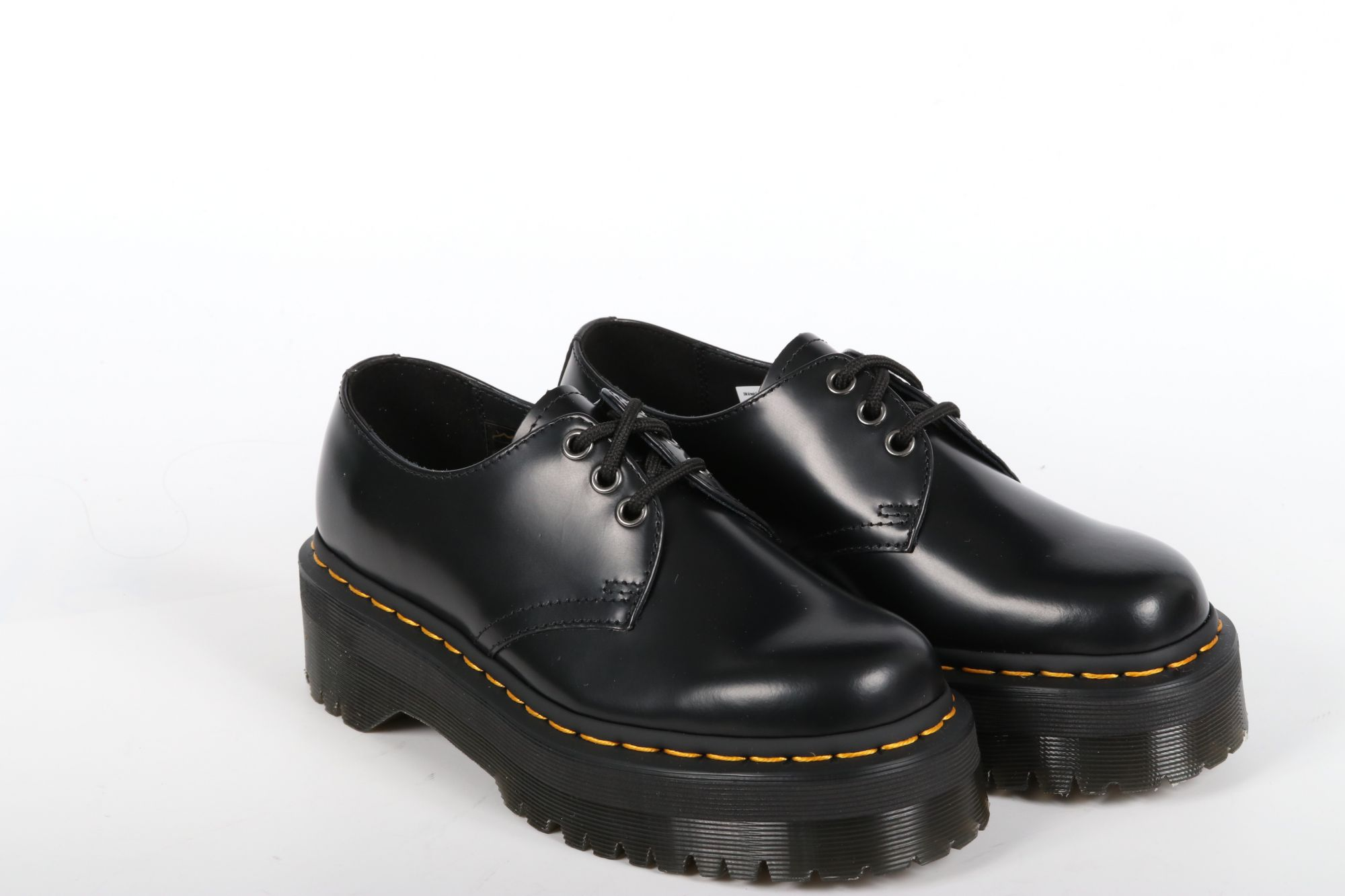 Derbies montantes femme Doc Martens 1461 Ploshed Smooth Black