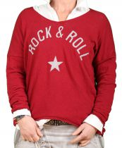 Pull femme « Rock and roll » bordeaux