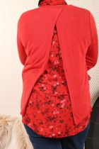 Pull femme grande taille doublure liberty\n2 coloris