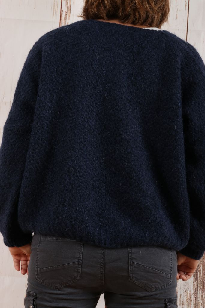 Pull femme laine maille chenille\n2 coloris