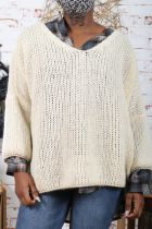 Pull femme maille manches 3/4