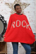 Pull oversize « Rock »\nTaille Unique