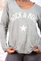 Tee-shirt femme coton « Rock and roll »