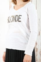 Tee-shirt femme manches longues « blonde »  9 couleurs !
